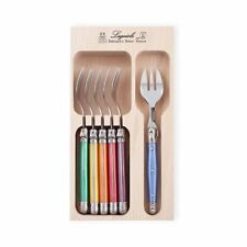 NEW Laguiole by Andre Verdier Debutant Cake Fork 6pc Mixed (RRP $70)