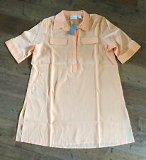 Nwt Chicos Fall Top Tunic Peach Short Sleeved Size 1 Medium