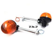 2X Front turn signal indicator blinker winker for 80 Honda XL100S XL125S w/stem
