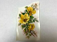 Ceramic decals large size lot of 12 yellow rose pattern