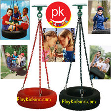 Swing set Play backyard Jungle Gym Tire Swing Kit Tire + Swivel SH-02 Tire Red