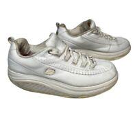 Skechers Shape Ups Womens Sneakers Shoes White Walking Low Top Anti Slip 7.5