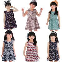 Kids Toddler Baby Girls Dress Bowknot Party Pageant Clothes Princess Tutu Dress
