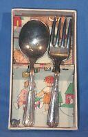 Vintage Reed & Barton Silver Plate  Childs 2 Piece Flatware Silverware Set