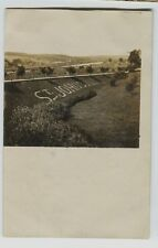 1910 era St. Johns  Illinois real photo Postcard Name in Landscaping COOL!