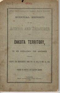 1881 Dakota Territory Financial State Report