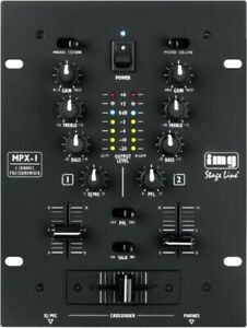 IMG STAGELINE MPX-1/BK 2-CHANNEL STEREO DJ MIXER