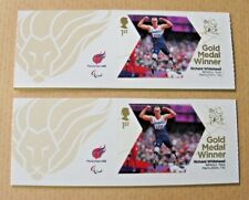 ERROR -London 2012 Paralympic Stamps -gold medal winners - Shift   error