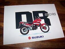 Prospectus / Brochure SUZUKI DR 650 RS  //