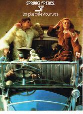 PUBLICITE ADVERTISING 044   1977   SPRUNG FRERES  les plus belles fourrures