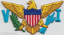 US Virgin Islands United States of America Flag Embroidered Patch Badge