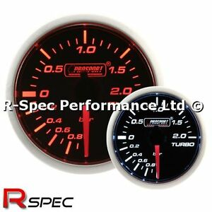 Prosport 52mm Super Amber / White Turbo Boost Gauge BAR - Stepper Motor Version