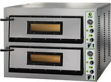 FORNO ELETTRICO PIZZA 2 CAMERA CM 108X72 TF 400 V Professionale 18000W PIROMETRO