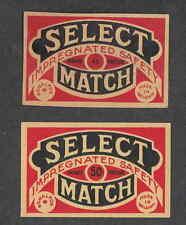 Ancienne   étiquette  Allumette  Belgique BN2257 Sélect