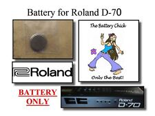 Battery for Roland D-70 Super LA Synth - Internal Memory Replacement Battery