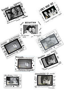 """Moments or Occasions Beveled Glass 6""""x4"""" Photo Frame"""