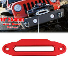 10'' 16800lbs Red Aluminium Hawse Fairlead For Winch Synthetic Cable Rope Guide