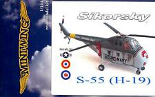 MiniWing Models 1/144 SIKORSKY S-55 (H-19) CHOCTAW Helicopter