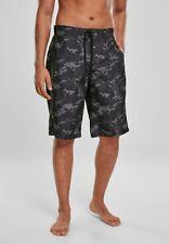 URBAN CLASSICS Pantaloncini da surf Costume da bagno uomo Black camo
