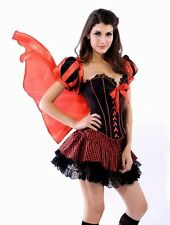 Sexy Corset Little Red Riding Hood Fancy Dress Costume Medium Size 10 - 12