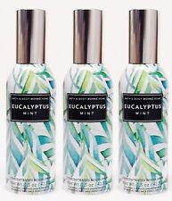 3 Bath & Body Works EUCLAYPTUS MINT Mini Room Spray Perfume Freshener 1.5oz