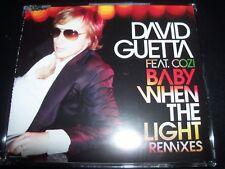 David Guetta Feat. Cozi – Baby When The Light Remixes CD Single - Like New