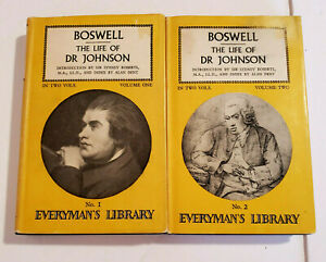 Boswell The Life of Dr Johnson in Two Volumes