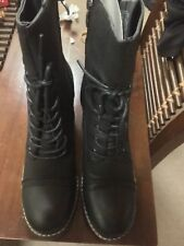 New Black Lace Up Boots 👢 Women's Size Uk 7 Or Aus 9 Rrp $99 David Jones