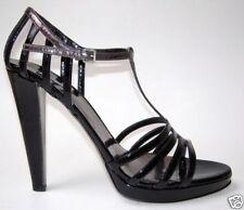 MIU MIU Black Patent Leather Vernice T-Strap Platform Sandals Size 40/10 $540
