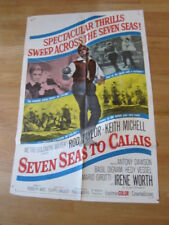 SEVEN SEAS TO CALAIS original 1962 poster pirates Rod Taylor