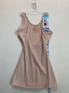 Assets Red Hot Label Spanx Luxe Lean Small Open Bust Tank Body Shaper Nude Lace