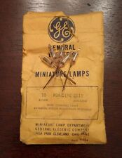 Lot of 5 GE General Electric A9AC NE2E1 Wire Neon Miniature Glow Lamps Light NOS