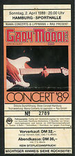 Original 1989 Gary Moore concert ticket stub Hamburg Germany