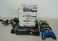 MICROSOFT XBOX 360 VIDEO GAME CONSOLE SYSTEM + 19 GAMES 3 CONTROLLERS CHARGER PO