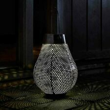 White LED Aswan Solar Powered Silhouette Lantern Table Top Hanging Decoration
