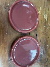Longaberger Coaster Crock Lid Set Of 2 Paprika