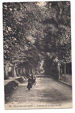 VILLERS-SUR-MER. L'Avenue de la Gare Street Sea Scene People B&W Postcard France