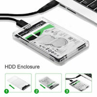 "2.5"" SATA USB 3.0 Hard Drive Disk HDD SSD Enclosure External Laptop Case US"