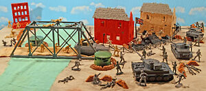 "WWII A Bridge Too Far set #3 - ""Defense of Arnhem"" - 54mm Plastic Toy Soldiers"
