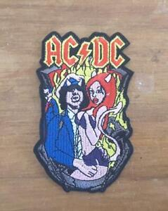 ACDC LOGO IRON ON SEW ON EMBROIDERED PATCH MUSIC BANDS ROCK LEGENDS
