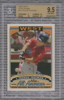 FREDDIE FREEMAN ROOKIE CARD 2006 Topps AFLAC PROMO #FF BGS 9.5 GEM MINT Braves