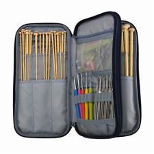 Knitting Needles & Crochet Hooks Set w/ Accessories Kit & Travel Storage Bag