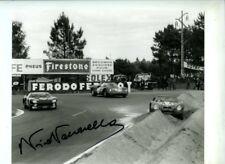 Nino Vaccarella Ferrari 275 P Ganador Le Mans 1964 Firmado fotografía
