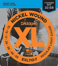 D'Addario EXL110-7 Nickel Wound Electric 10-59  7-String (Regular Light)