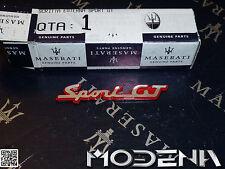 Maserati Emblem Schriftzug rot B-Säule Scritta Sign Badge red QP V Sport GT