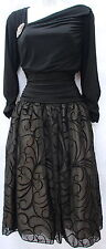 S.L.Fashions black flare skirt evening formal wedding party elegant dress sz 12