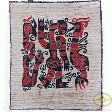 Chinese Folk Art Home Wall Hanging Batik Tapestry - abstract Human Phenix Snake