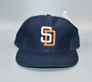 San Diego Padres Vintage 90's Logo Athletic YOUTH Snapback Cap Hat - NWT