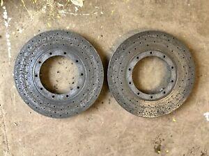Pair Ferrari 458 Challenge Carbon Ceramic Front Brake Discs Part Ref: XB5AB11
