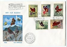 1963 FDC San Marino Farfalle First Day Cover